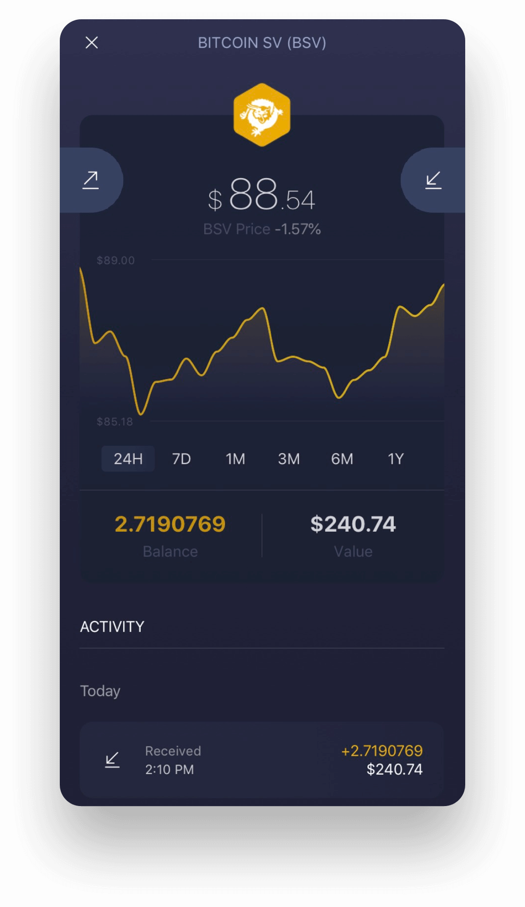Experience Bitcoin SV on Exodus Mobile