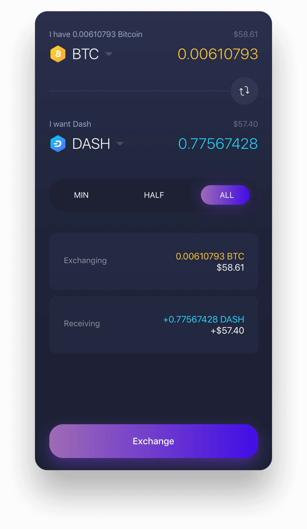 Experience Dash on Exodus Dash mobile wallet (Dash Android wallet and iOS wallet supported)