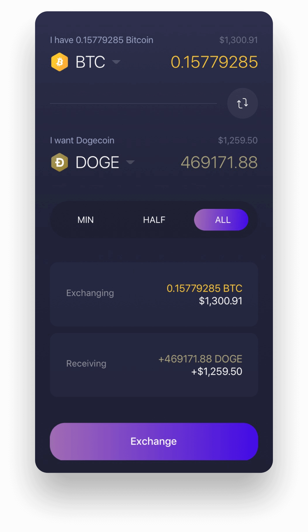 Experience Dogecoin on the Exodus Dogecoin wallet app