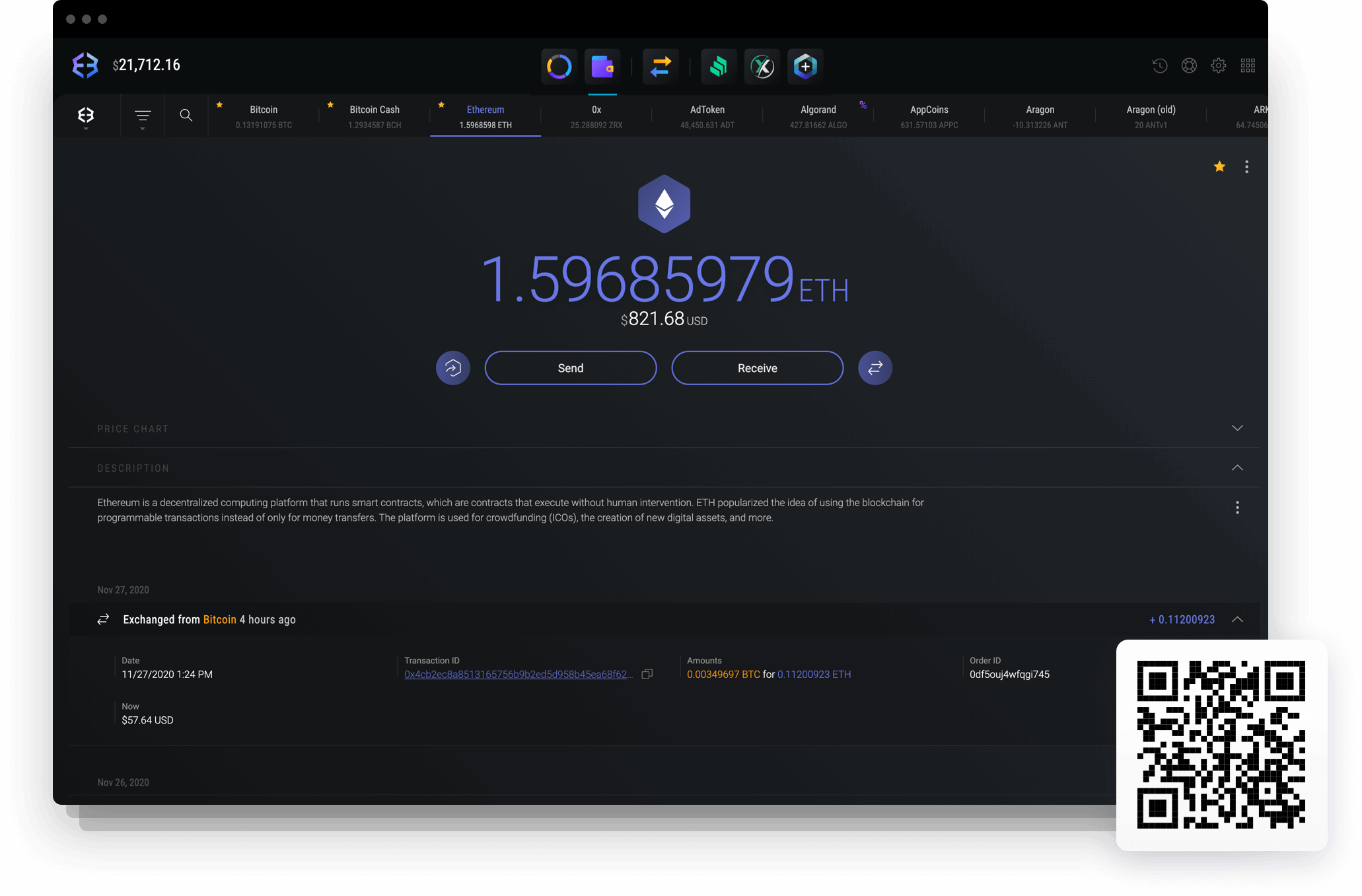 ether cryptocurrency wallet