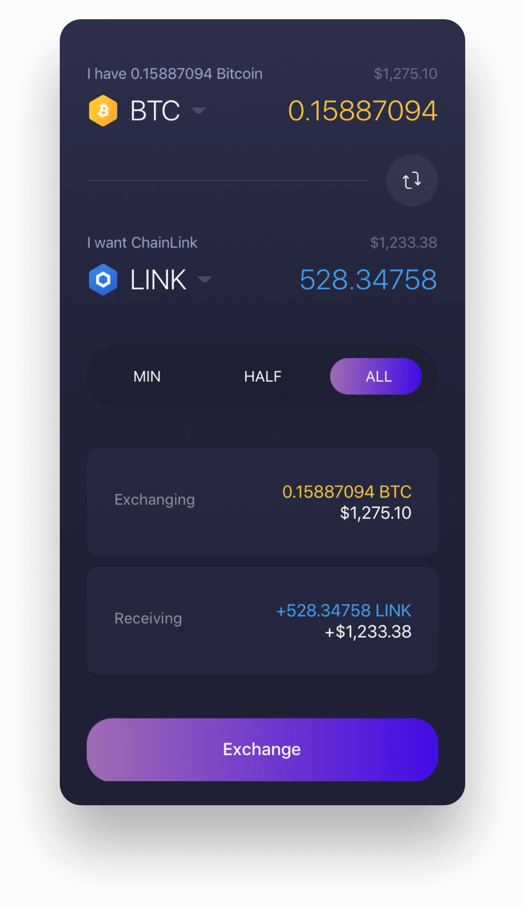 Experience Chainlink on Exodus Mobile
