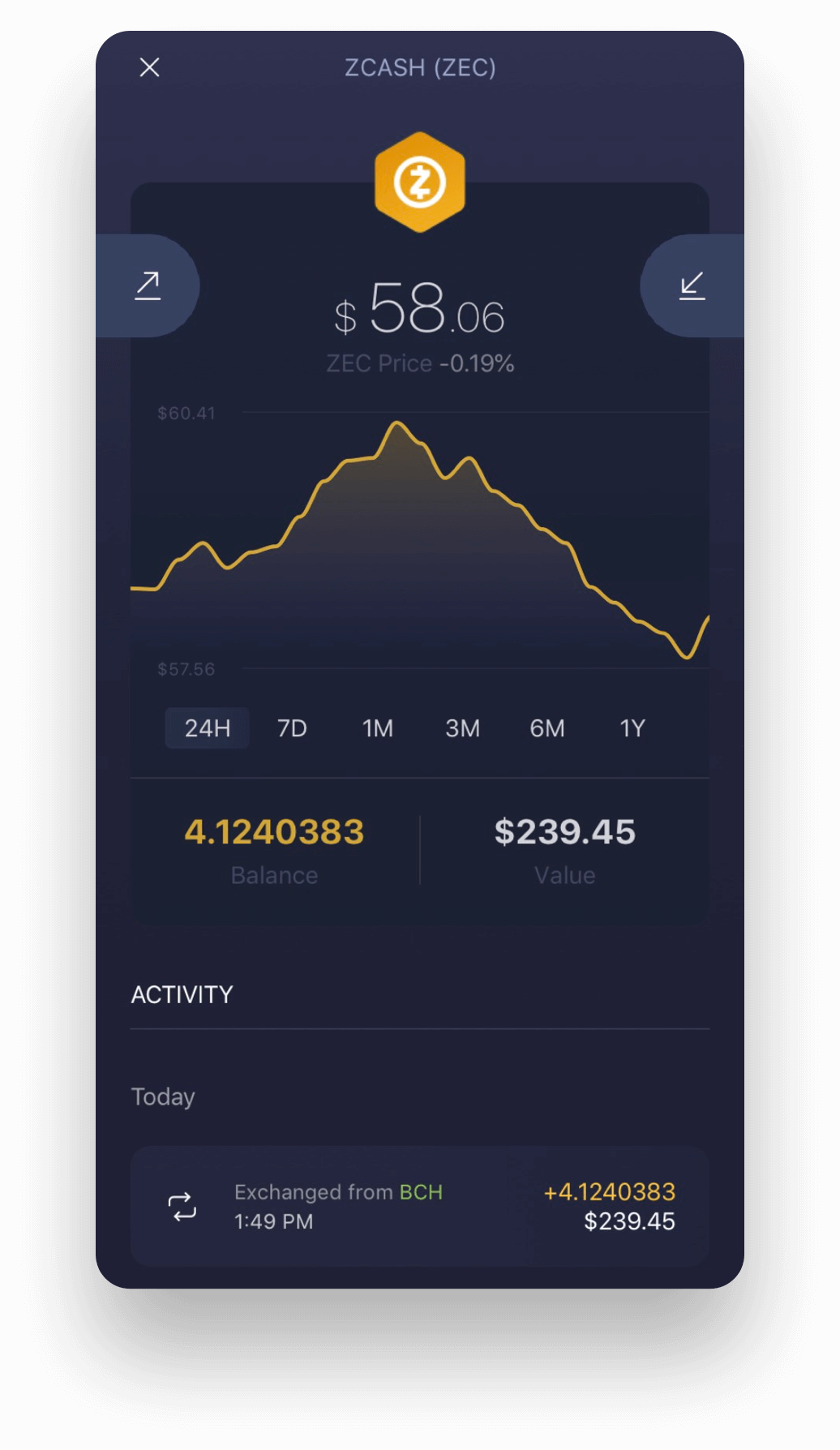 Experience Zcash on Exodus Mobile